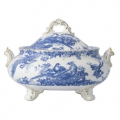 Blue Aves Covered Vegetable Dish