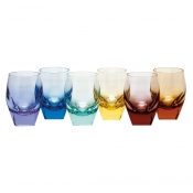 Moser Bar Double Old Fashion - Rainbow Colors /Set 6
