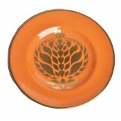 Bristol Bell - Orange Accent Plate - 6""