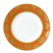 Bristol Belle - Orange Border Salad / Dessert Plate