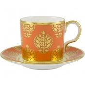Bristol Belle - Orange Coffee ( demitasse)  Cup