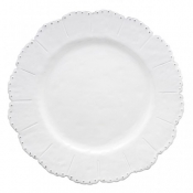 Bella Bianca Beaded Dinner Plate