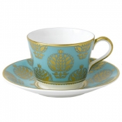 Bristol Belle - Turquoise Full Cover Tea Cup