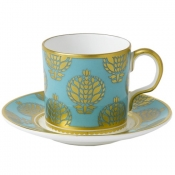 Bristol Belle - Turquoise Full Cover Coffee Saucer