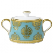 Bristol Belle - Turquoise Full Cover Covered Sugar Box
