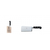 Berti Insieme Black Lucite Handle Cleaver