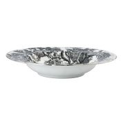 Black Aves - Platinum Rim Soup Bowl