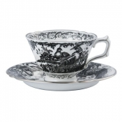 Black Aves - Platinum Tea Saucer