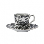Black Aves - Platinum Coffee Saucer