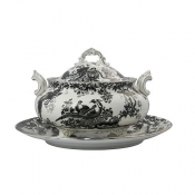 Black Aves - Platinum Soup Tureen & Cover