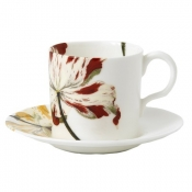 Botanical Tulips Coffee Cup ( demitasse)
