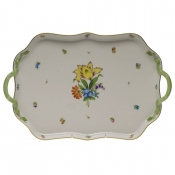 Printemps TRAY RECTANGULAR W/BRANCH HANDLES  18""