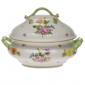 "Printemps TUREEN W/BRANCH  (4 QT) 10""H"