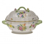 "Printemps TUREEN W/BRANCH  (2 QT) 9.5""H"