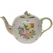 "Printemps TEA POT W/ROSE  (60 OZ) 6.5""H"