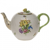 "Printemps TEA POT W/ROSE  (36 OZ) 5.5""H"