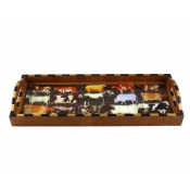 Annie Modica Cows Bar Tray