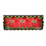 Annie Modica Poinsettia Bar Tray