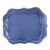 Arte Italica Burano Glass Large Blue Tray - 14.75