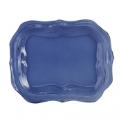 Arte Italica Burano Glass Small Blue Tray - 11""
