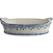 Arte Italica Burano Oval Bowl with Rope Handles