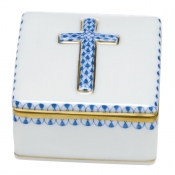 Herend Prayer Box - Blue