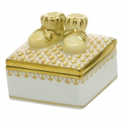 Herend Baby Bootie Box - Butterscotch