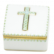 Herend Prayer Box - Kiwi Lime
