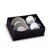 Byzanteum Platine Tea Cup + Saucer (Gift Box of 2)