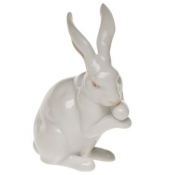 Herend Medium Bunny w/Paws Up Natural Coloration
