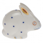 Herend Polka Dot Rabbit Blue