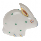 Herend Polka Dot Rabbit Green