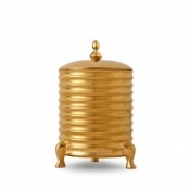 L'Objet Han Canister Candle with Lid - 3-Wick - Gold