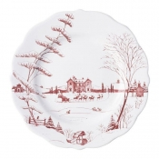 Country Estate Holiday & Winter Frolic Scalloped Dinner Plate - Christmas Eve
