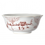 Country Estate Ruby & Winter Frolic Cereal / Ice Cream Bowl