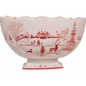 Country Estate Holiday & Winter Frolic Centerpiece Bowl - Christmas Celebration