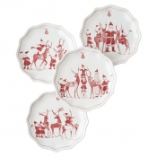 Juliska Country Estate Reindeer Games Tidbit Plates Set/4