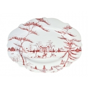 Country Estate Ruby &  Winter Frolic Large Serving Platter - 18""