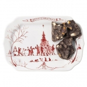 Juliska Country Estate Winter Frolic Ruby Gift Tray - Merry Christmas
