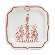 Juliska Country Estate Reindeer Games Ruby Party Plate Coaches