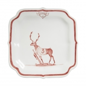Juliska Country Estate Reindeer Games Ruby Party Plate Donner