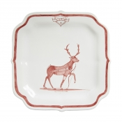 Juliska Country Estate Reindeer Games Ruby Party Plate Cupid