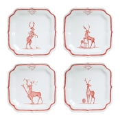 "Juliska Country Estate Reindeer Games ""Solo Sports"" Party Plates S/4"
