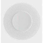 Checks by Thomas Keller Small Round Plate - Round Well