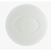 Checks by Thomas Keller Round Dinner Plate - Almond Well