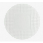 Checks by Thomas Keller Round Dinner Plate - Square Well