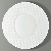 Checks by Thomas Keller Round Dinner Plate - Oval Well
