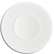 Checks by Thomas Keller Round Flat Platter - Square Well
