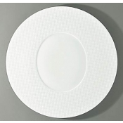 Checks by Thomas Keller Round Flat Platter - Oval Well