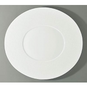 Checks by Thomas Keller Oval Flat Platter - Oval Well